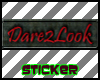 Dare2Look-sticker tag