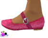 pink glitter mary janes