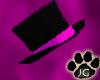 black/hot pink tophat