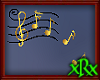 Music Note Decor Gold