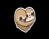 Slothy Love Cutout + Black Background