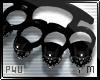 -P- B.Knuckles Black M/L