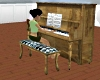 Old Wood Player Piano