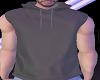 Gray sleeveless hoodie
