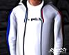 White Striped Hoodie