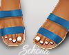 ṩ Brea Sandals Aqua