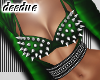 =D Metal Bra Top Green