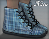 ! Winter Plaid Sneakers