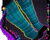 ★ Teal Paw Socks F