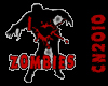 I LUV ZOMBIES sticker