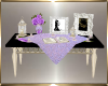 Purple Guest Book Table