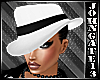 Gangster Lady Hat White