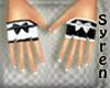 Gloves Bow 1Black 1White