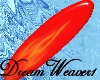 Red Flames Surfboard
