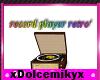 record player retro'