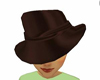brown satin hat