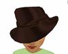 brown satin hat