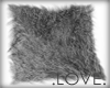 .LOVE. Dyed Fur Rug Silv