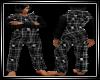 Skully Flannel Onesies-M