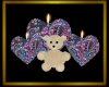 Heart Candles w/Bear