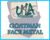 GoatMan Face Metal