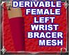 Fem Lft Wrst Bracer Mesh
