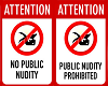 No public nudity poster