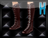 ~H~Brown Buckle Boots