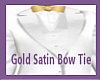 (is) Gold Satin Bow Tie
