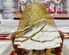 wedding gold white veil