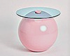 Pastel Glass Side Table
