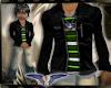 Lthr Skull jacket green