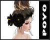 Hair Flower-Black
