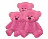 Pink Teddy Bear Family