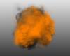 cloudy orange black