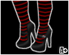 Red&Black stripes Boots