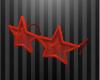 Star Glasses - Red
