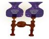 purple wall lamp