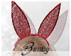 Lace Bunny Ears Red