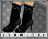 [Y] Rounded Black Boots