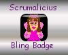 Angel Bling Badge