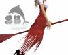 Red flying broom