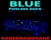 BLUE POSELESS SOFA