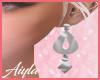 Silver Q Earring