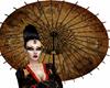 Geisha Umbrella Gold
