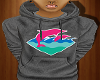 Pink Dolphin Waves Hoody