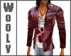 DK leather jacket red