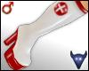 PVC nurse boots white(m)