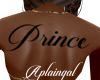 Prince Back Tattoo/F