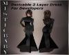 ~M~ Derv 2 Layer Dress